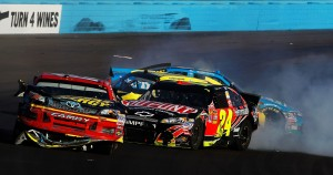 The win by Kevin Harvick was big.  The big points swing with Jimmie Johnson's trouble was huge.  But what everyone will remember about Phoenix is the pandemonium involving Jeff Gordon and Clint Bowyer.