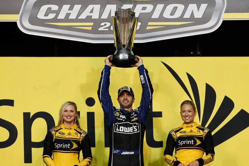The champ is back.  Jimmie Johnson is the 2013 NASCAR Sprint Cup Series champion, his sixth in the last eight years.