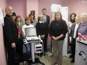 Pictured are members of the Women's Club of Tyrone on a recent visit to Tyrone Hospital to see the new digital mammography technology and the new portable breast ultrasound technology that they helped to purchase. Pictured, from left to right, are Randy Miles Sr., chairman of the Tyrone Hospital Foundation, Rose Black, Women's Club Treasurer,  Danielle Harris, Women's Club Secretary, Jeanne DiPierro, Women's Club vice president, Tammy Emigh Women's Club president, Judy Norris, Kelly Biggs, M.D., medical director of the Tyrone Hospital Radiology Department, Diane Irwin, Jessica Ford Cameron, Fran Bigelow and Mim Holtz. (Provided photo)