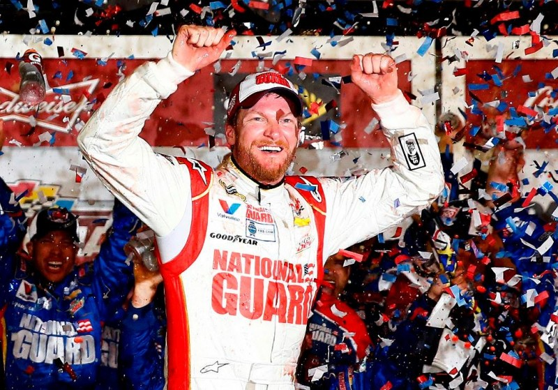 After an incredible opening NASCAR weekend, not even a rain delay could dampen the excitement this man brought with his victory.