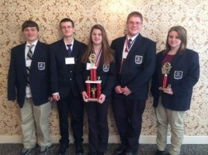 Pictured, from left, are Chris Hutton, Jesse Kruis, Elizabeth Dunsmore, Chris Young Jr. and Kilee Hanes. (Provided photo)