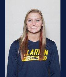 Freshman Jessica Shome was part of a school record 4x100 realy (Photo courtesy Clarion Athletics)