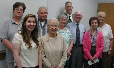 Pictured are members of Tyrone Hospital's volunteer program who were recognized at a special event. From left are Patricia (Diane) Colpetzer, Jessica Norris, Bernie Hand, Frances Hunter, Constance Baker, Jack Swiderski, Stephen Gildea, CEO at Tyrone Hospital, Anna Mae Campbell and Merle Louise Ammerman. (Provided photo)