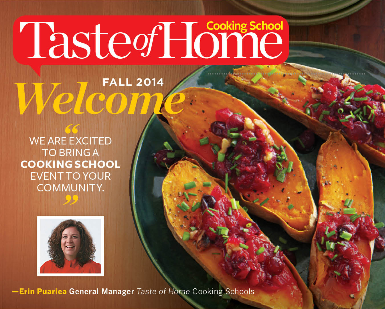 Taste of Home Magazine Brings Cooking School to Clearfield