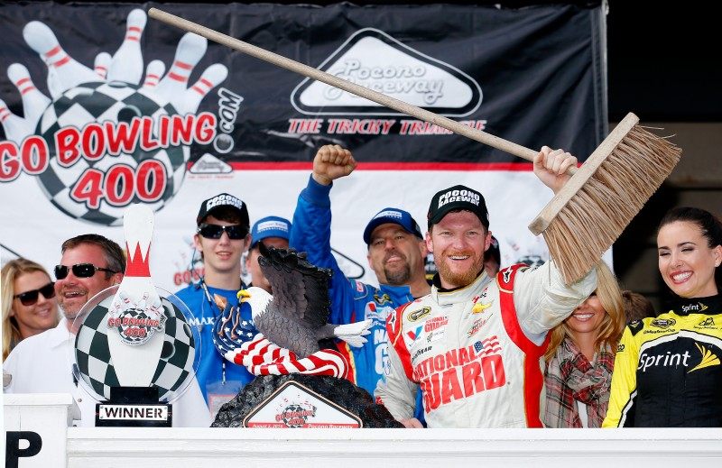 One was nice, and two was meaningful. But when Dale Earnhardt Jr. won his third race of the season Sunday at Pocono, it meant a lot more.