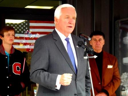 Corbett Rallies with Supporters in Clearfield