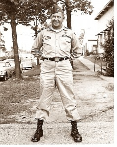 Robert Grimminger poses in his military uniform. From a young man working on a farm near Lewistown, to a World War II vet and later, business entrepreneur, Grimminger leaves behind a great legacy in his family and business.