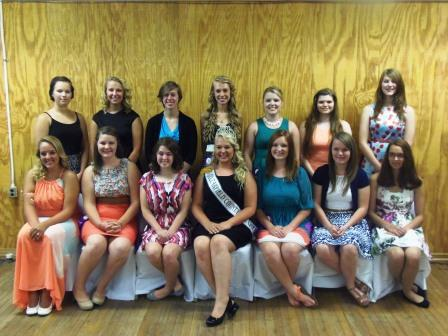 Fair Queen Contestants Introduced at Banquet