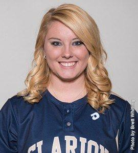 Rachel Hoffman picked up two wins for Clarion (Photo courtesy Clarion Athletics)