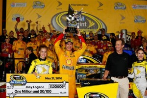Joey Logano was the one in victory lane in one of the most confusing All-Star Races that NASCAR has hosted.
