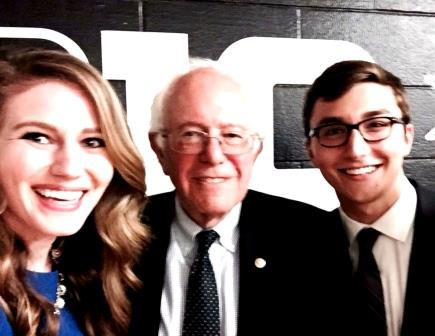 PHOTO: Clearfield Grad Meets Presidential Candidate Bernie Sanders