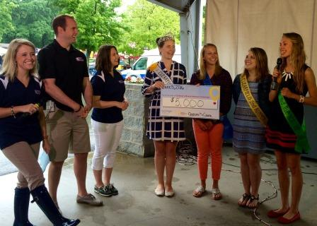 Fair Queen and Court Present $5K to Children's Miracle Network