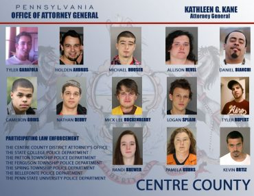 17 Charged in Centre Co. Drug Sweep