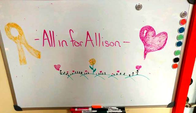 All in for Allison Facebook photo