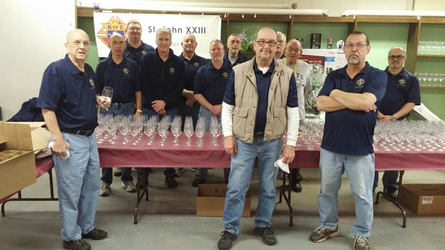 Knights of Columbus Members Raise Funds at Wine Festival