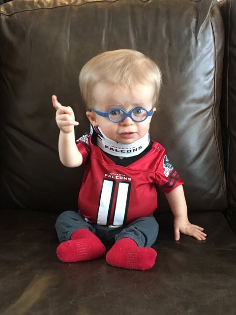 Meet the world's cutest Atlanta Falcons fan, a boy with dwarfism
