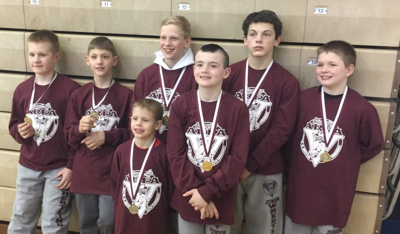 Clearfield Youth Wrestlers Compete at Area V Championships