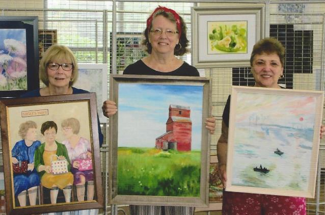 Local Artists' Paintings on Display at Shaw Library