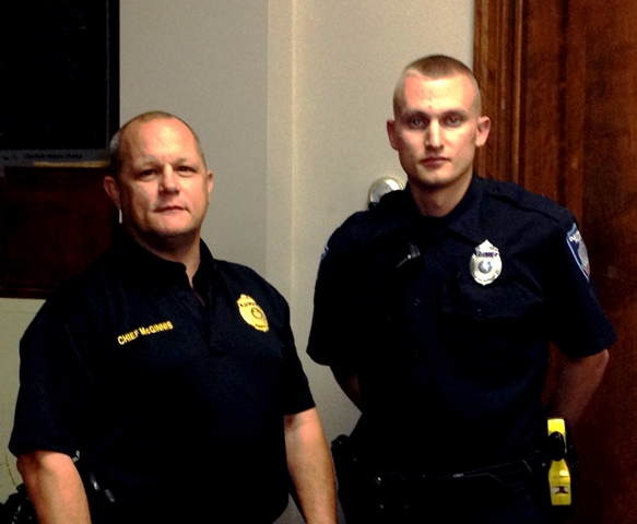 New Police Officer Introduced to Clearfield Borough Council
