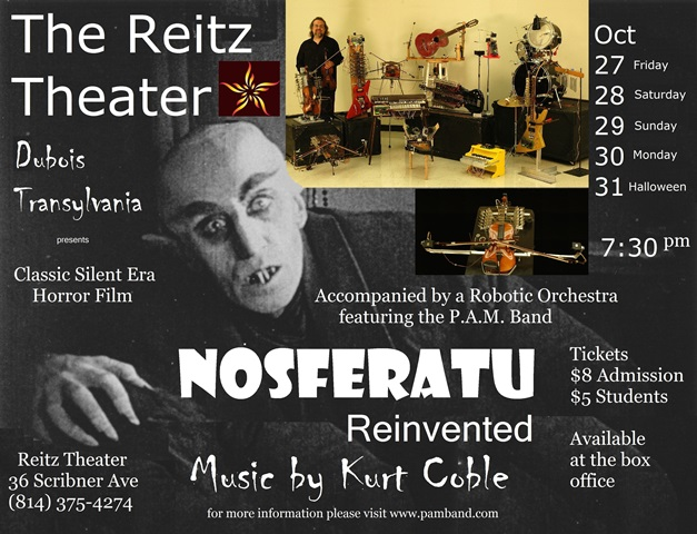 Halloween Horror Film, 'Nosferatu Reinvented,' to Show at Reitz Theater