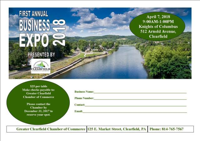 Clearfield Chamber to Hold Business Expo in April