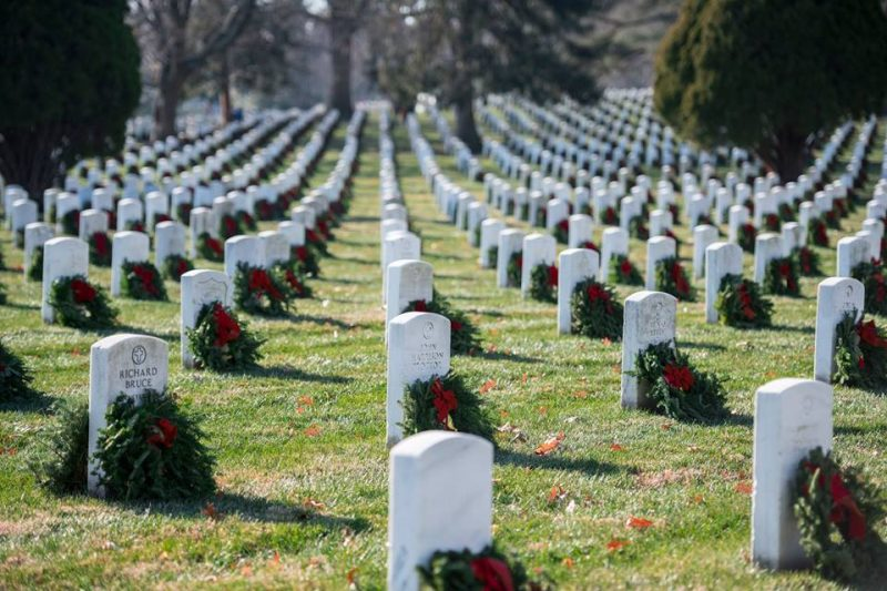 St. Francis School Lays Wreaths As Part of Wreaths Across America