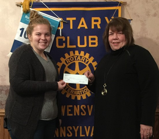 Scholarship Winner Presents at Curwensville Rotary
