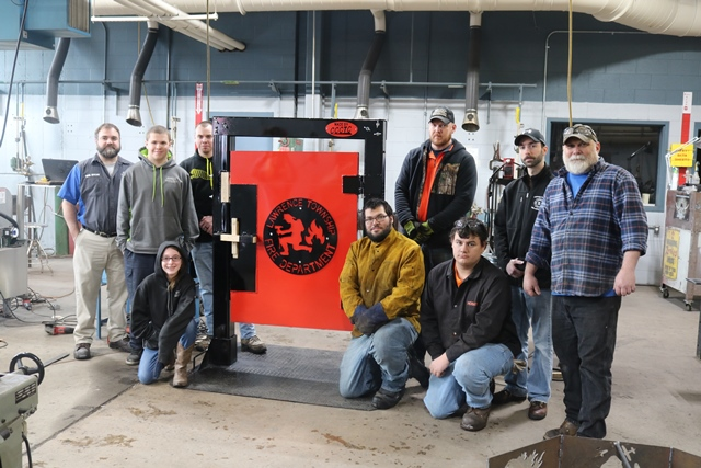 CCCTC Students Construct Forcible Entry Door Simulator for LT Fire Dept.