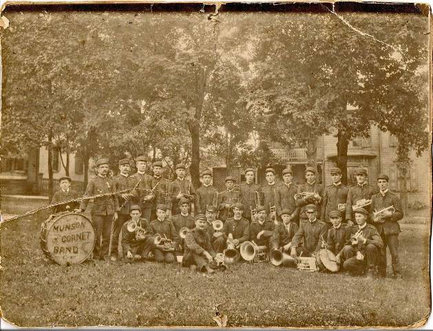 Throwback Thursday: 1910 Photograph of Munson Coronet Band