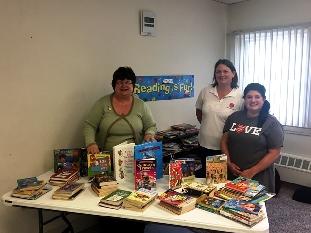 Clearfield Area United Way Donates Books to Salvation Army