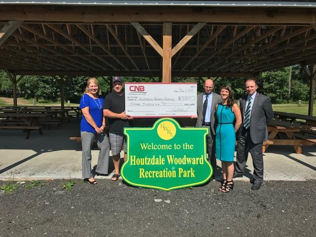 CNB Bank Donates to Houtzdale Woodward Recreation Authority