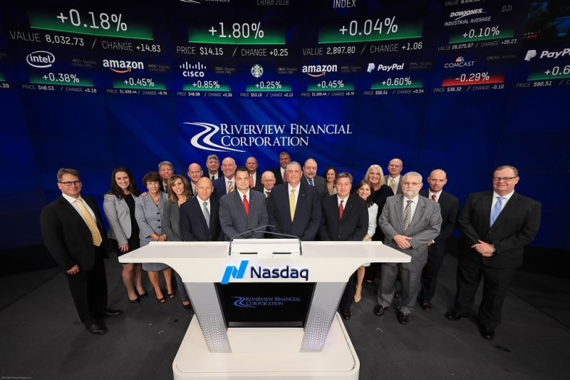 Riverview Financial Corp. Rings Nasdaq Closing Bell