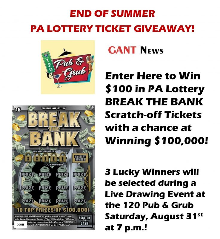 Win $100 in PA Lottery Tickets | GantNews com