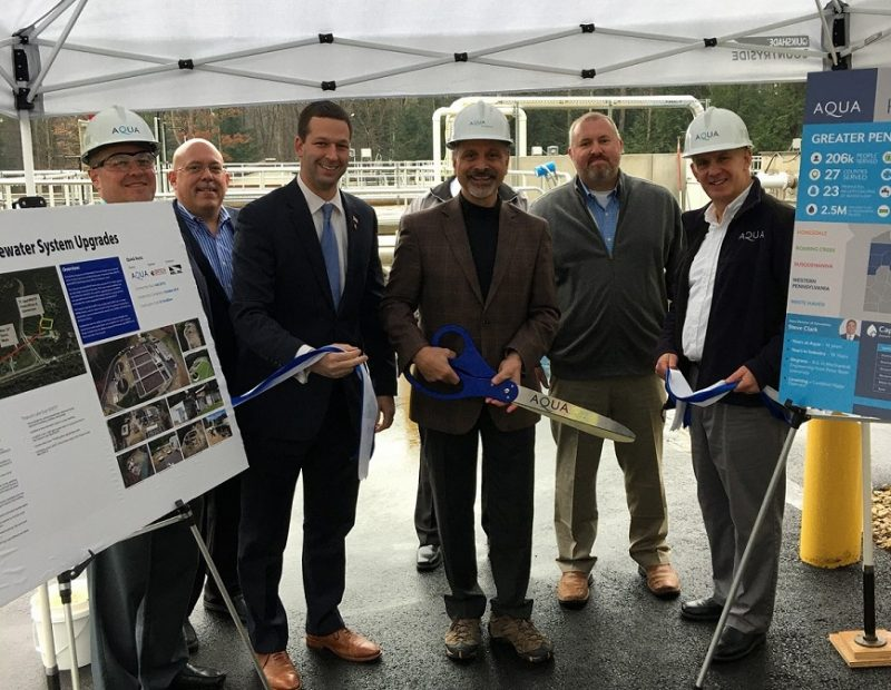 Aqua Pennsylvania Cuts Ribbon on Newly-Rehabilitated Treasure Lake West Wastewater Treatment Plant
