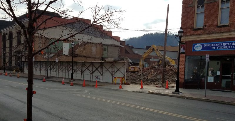 Building Demolition Under Way Along East Market Street to Make Room for CNB Expansion Project